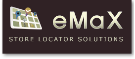 eMaX store locator software logo